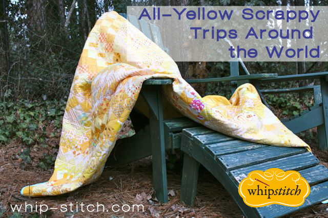 yellow scrappy quilt | whipstitch