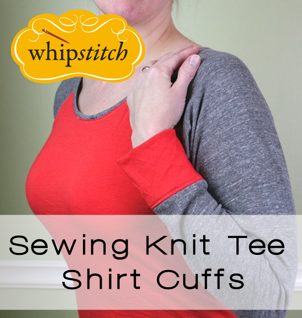 tutorial | how to sew knit tee shirt cuffs