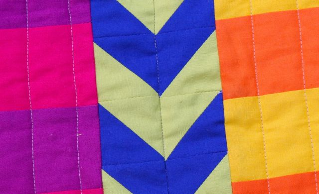chevrons and stripes in saturated colors