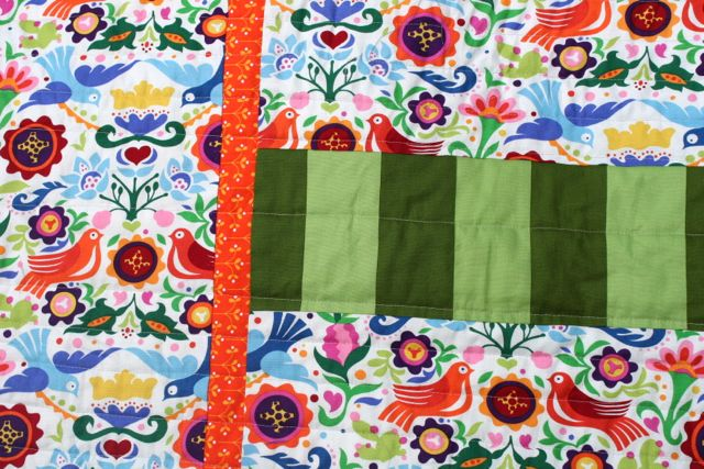 saturated colors quilt back