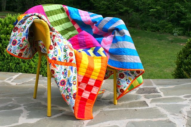 saturated colors quilt | whipstitch