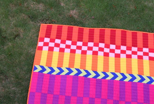saturated stripes quilt