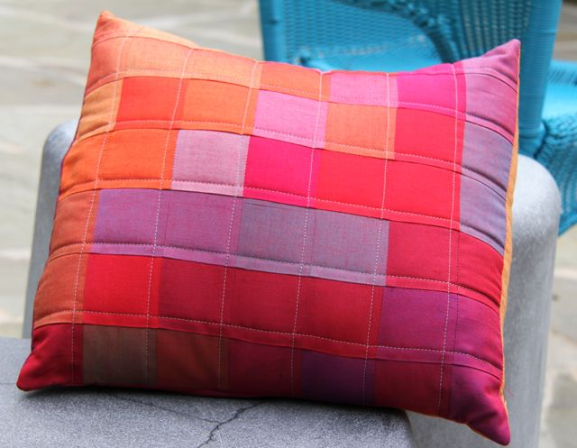 oakshott cottons postage stamp pillow | whipstitch blog
