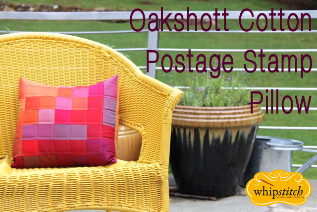 oakshott postage stamp pillow