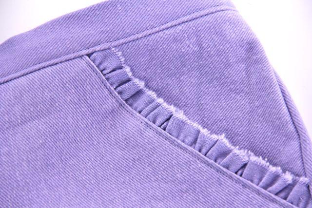 denim grainline closeup
