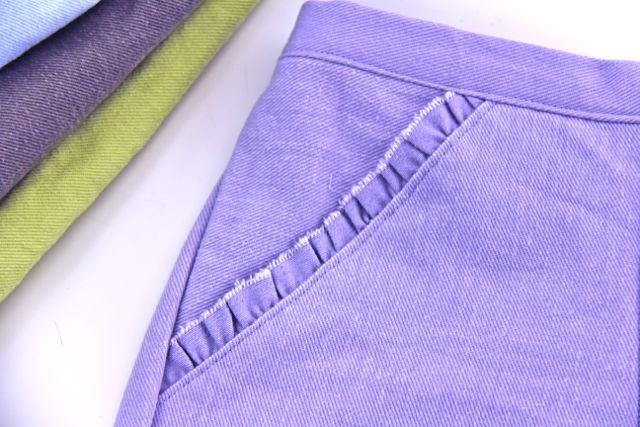 denim pocket closeup