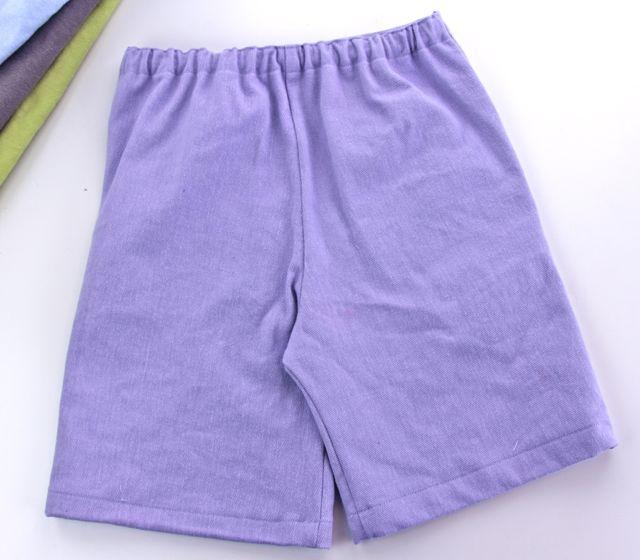 denim shorts elastic back
