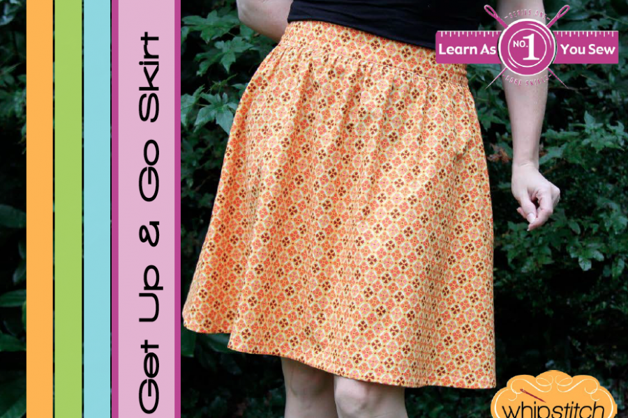 Get Up and Go Skirt sewing pattern from Whipstitch