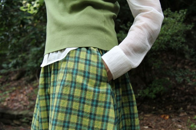 in seam pocket go skirt gr plaid
