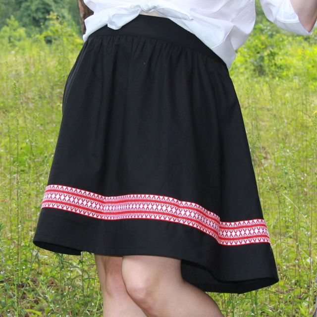 solid black Get Up and Go Skirt from Whipstitch