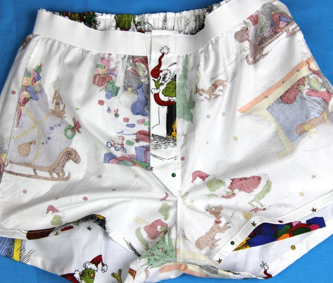 grinch boxer shorts interior fly