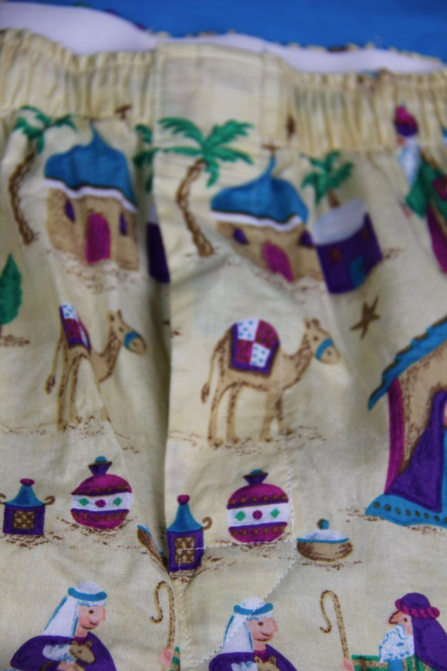 nativity boxer shorts sewn fly