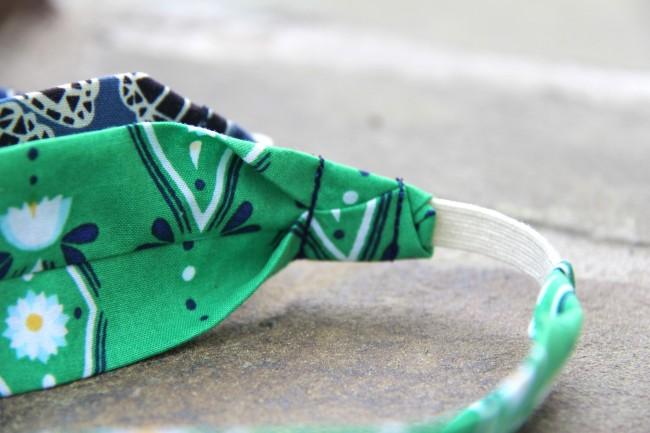 fabric headband with elastic closure