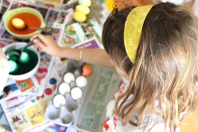 headbands help with dyeing eggs
