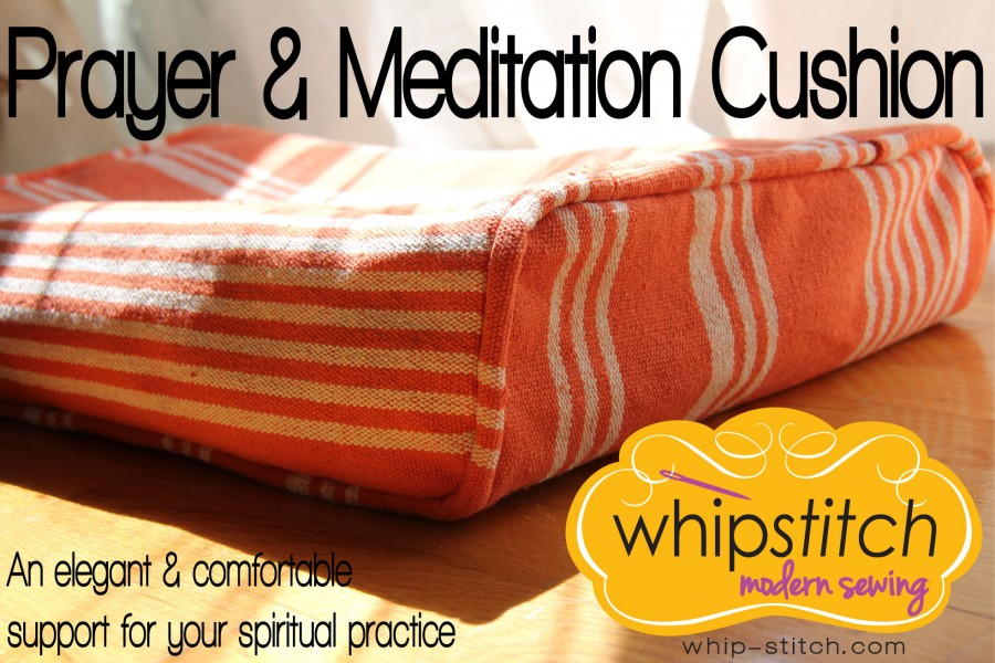 Prayer and Meditation Pillow Sewing Pattern by Whipstitch