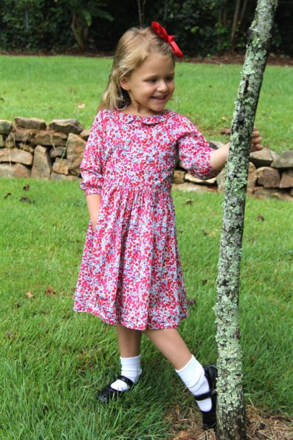 Classic dress sewing pattern for little girls