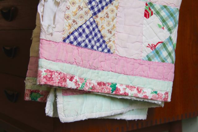 repairs on a vintage quilt