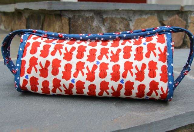 Japanese hippos sew together bag