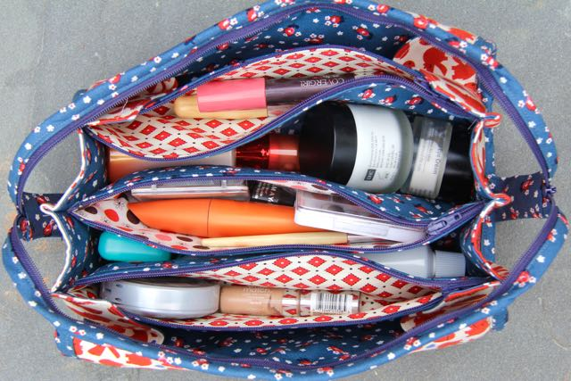 sew together bag for cosmetics