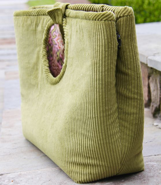 side snaps on Cote dAzur Tote pattern