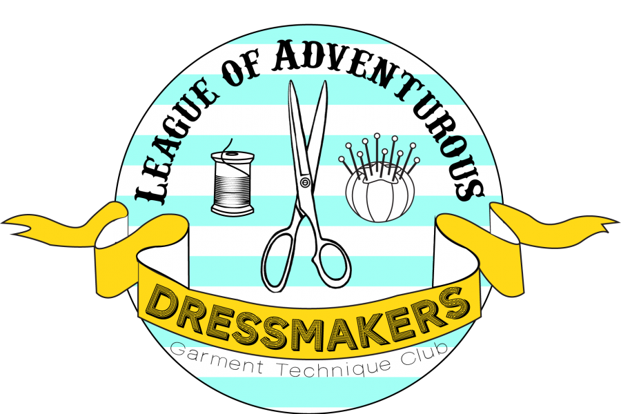 league of dressmakers logo stripes