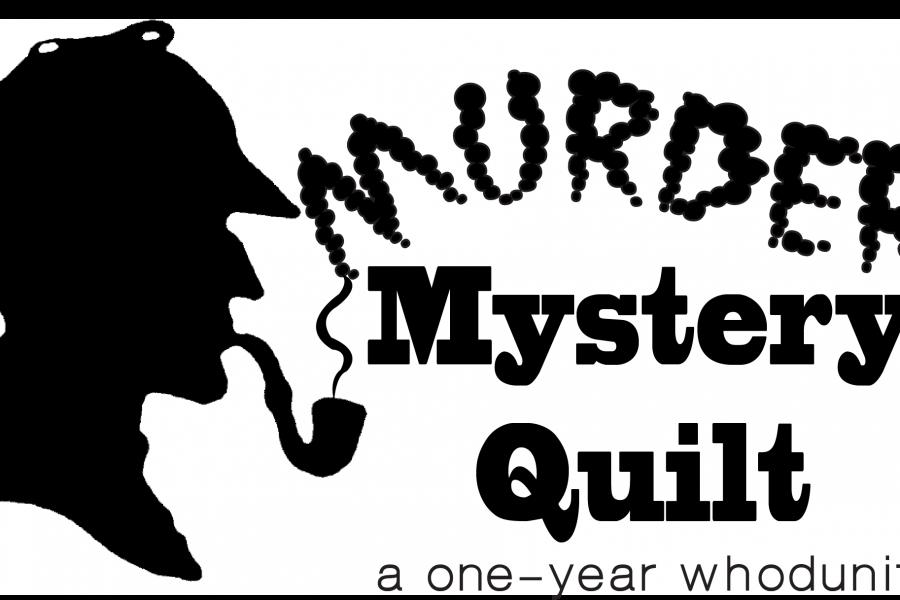 murder mystery quilt logo