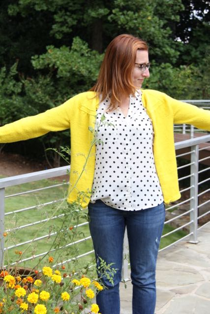 Georgia cardigan in yellow yellow