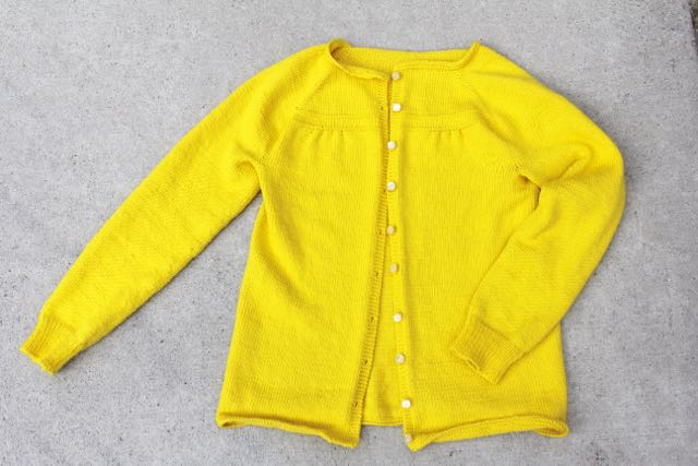 Georgia cardigan yellow yellow by Whipstitch