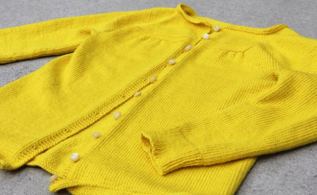 Whipstitch Georgia cardigan yellow yellow